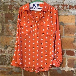 Ann Taylor coral peach blouse 🍑